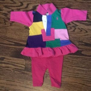 Ralph Lauren Patchwork Dress & Leggings